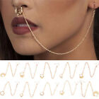 Nose to Ear Chain Nose Ring & Pierced EarringJewelry Chain LinkNose Clip Ring JR
