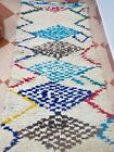 free shipping vintage Authentic boucheroute rugHandmade 100% Wool Berber