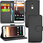 For Alcatel A3 XL 9008X - Wallet Leather Case Flip Cover + Screen Protector