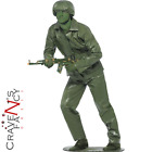 Plastic Toy Soldier Costume Army Man Story Camouflage Mens Fancy Dress Outfit