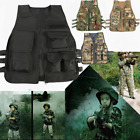 Kids Children Tactical Combat Military Airsoft Hunting Army Vest CS Play 8-13Y