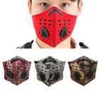 activated carbon face mask - Activated Carbon Filtration Face Mask Anti Dust Haze for Running Cycling Biking