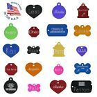 CUSTOM ENGRAVED PET ID TAG Personalized IDENTIFICATION Charm Tags for Cat or Dog