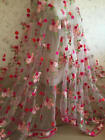 Gorgeours Lace Fabric Floral Embroidered Tulle Fabric Dress Bridal Veil Floral