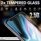 2x New Tempered Glass Screen Protector for Apple iPhone X 8 7 6 6S Plus Cover