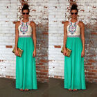 UK Women Foral Boho Maxi Long Evening Party Dress Beach Sundress Summer Dress