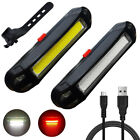 Bright Bike Night Light Headlight Rechargeable Bicycle Flashing Rear taillight
