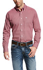 Ariat Men's Long Sleeve Wrinkle Free Jaxx Print Shirt - Rose Culitvar