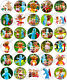 30 x IN THE NIGHT GARDEN Edible Wafer Paper Cupcake Toppers *PRECUT*