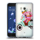 HEAD CASE DESIGNS WHEELS AND FLORAL SOFT GEL CASE FOR HTC PHONES 1