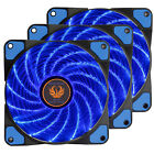 120mm DC 15 LED Cooling Case Fan for Computer PC Quiet Edition CPU Cooler Blue