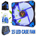 cpu for computers - 120mm DC 15 LED Cooling Case Fan for Computer PC Quiet Edition CPU Cooler Blue