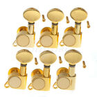 6L Gold Guitar String Tuning Pegs Tuners Machine Heads set