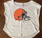 Viictoria Secret Pink! White Small Cleveland Browns Short Sleeve Shirt