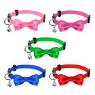 Bow Puppy Small Dog Kitten Cat Breakaway Collar Safety Quick Release with Bell