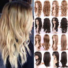 blonde hair turning orange - Ombre Blonde Full Wig Long Synthetic Hair Costume Full Head Wigs With Bangs Mt8