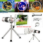 US Silver Universal 18X Zoom Optical HD Telescope Cell Phone Camera Lens Clip-on