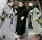 Winter Warm Women Wool Lapel Long Coat Trench Parka Jacket Overcoat Outwear GIFT
