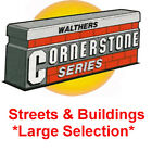 Walthers Cornerstone Concrete / Asphalt Street System(s), Building(s) - HO Scale