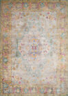 Brown Traditional-European Distressed Scrolls Area Rug Bordered 1830-30317