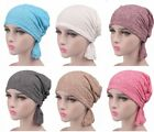 Women Cotton Chemo Hat Stretchy Beanie Headscarf Turban Headwear Cancer Patient