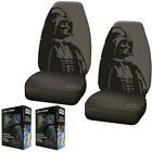 New Gray Star Wars Darth Vader Front Pair High Back Car Seat Covers $49.98 USD on eBay