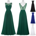 Women Long Evening Prom Gown Formal Party Cocktail Wedding Bridesmaid Dress H1