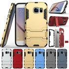 Shockproof Rugged Rubber Armor Stand Case Cover For Samsung Galaxy S7 / S7 Edge