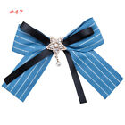 Elegant Ladies Large Bow Tie Necktie Ribbon Pendant Bow Collar With Brooch Gifts