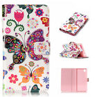 Leather Wallet Phone Case Magnetic Folio Flip Cover for Huawei P8 P9 Lite & Sony