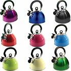 2.5 ltr KETTLE WHISTLING  use on gas or electric hobs various colours available