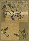Beige Country Border Vines Area Rug Floral 2395C