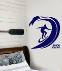 Vinyl Wall Decal Surfing Sports Waves Surfboard Rider Stickers (2289ig)