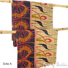 Colorful Vintage Kantha Reversible Throw Quilt Bedspread Beach Boho Bohemian Ind