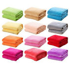 New Super Soft Micro Plush Fleece Blanket Solid Bedding Soft Warm Throw Rug Sofa image