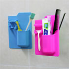 Silicone Mighty Razor Toothbrush Holder Bathroom Storage Space Shower Organizer