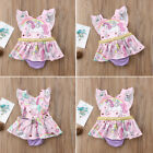 Unicorn Toddelr Infant Baby Girls Kids Summer Romper Dress Outfits Set Clothes