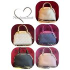 NWT MICHAEL KORS SIGNATURE PVC & LEATHER EMMY SMALL DOME SATCHE BAG IN VARIOUS