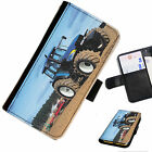 TRA02 TRACTOR MUDDY PRINTED LEATHER WALLET/FLIP PHONE CASE COVER FOR ALL MODELS