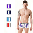 Dynamic Stripe Sexy Men's Underwear Boxer Briefs Cotton Shorts Pouch Underpants