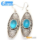 Fashion Tibetan Silver Blue Sapphire Ring Earring Pendant Jewelry Set Women Gift