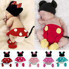 baby girl minnie mouse costume - Newborn Baby Boy Girl Mickey Minnie Mouse Costume Cake Smash Photo Shoot Clothes
