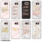 MARBLE ROSE GOLD INSPIRATIONAL QUOTES BLING GLAMOUR SAMSUNG GALAXY PHONE CASE