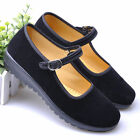 2017 New Womens Chinese Ballerina Work Velvet Shoes Lady Cotton Sole Flats