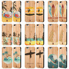 HEAD CASE DESIGNS SURFERS BAMBOO WOOD BACK CASE FOR APPLE iPHONE SAMSUNG PHONES