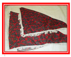 Red Paisley Shawl - Traditional Welsh Ladies Girls Shawl - St Davids Day Outfit