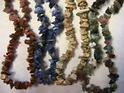 """18"""" NATURAL STONE CHIP NECKLACE magnetic clasp~BEADS for crafts CHOOSE SEVERAL"""