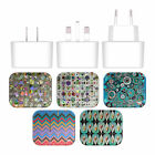 ANGELO CERANTOLA PATTERNS WHITE US CHARGER & MICRO-USB CABLE FOR LG PHONES 2