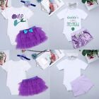 Infant Baby Girl Mermaid Romper+Tutu Skirt Outfit 1st Birthday Party Clothes Set