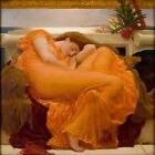 FLAMING JUNE by Frederick Leighton - Matt, Glossy, Canvas Paper A4 or A3